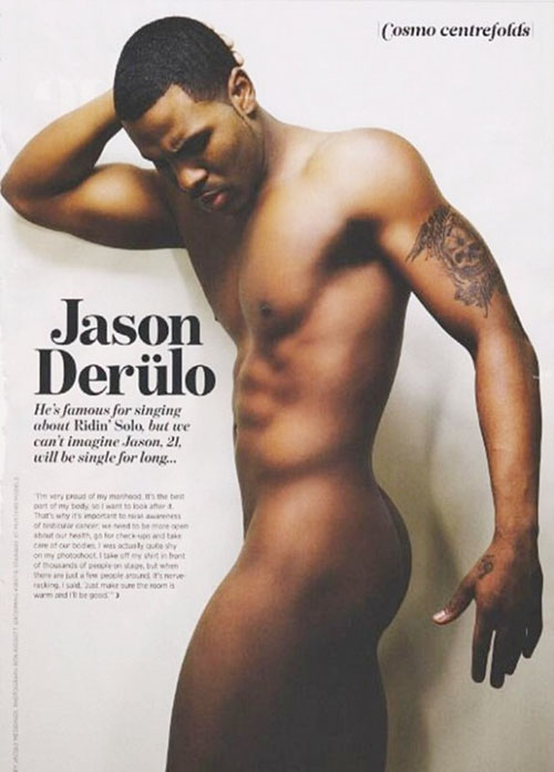 Jason Derulo poses nude.